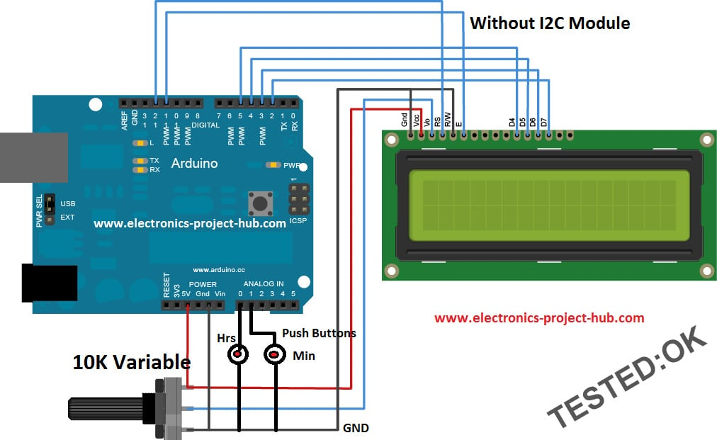 Arduino Digital Clock without RTC
