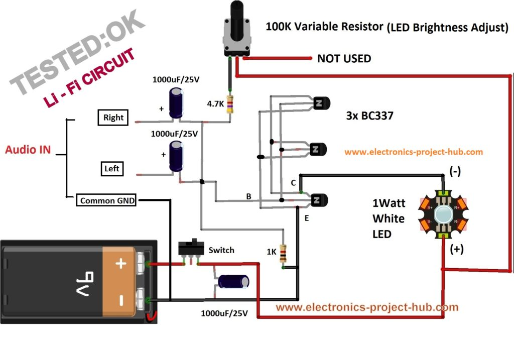Simple Li-Fi Circuit Using Transistor – DIY Electronics Projects