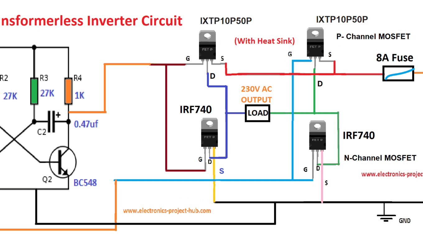 Inverter Circuit Diagrams Without Transformer - Wiring Database Diagram