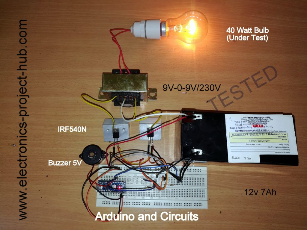 Simple Arduino Inverter Circuit