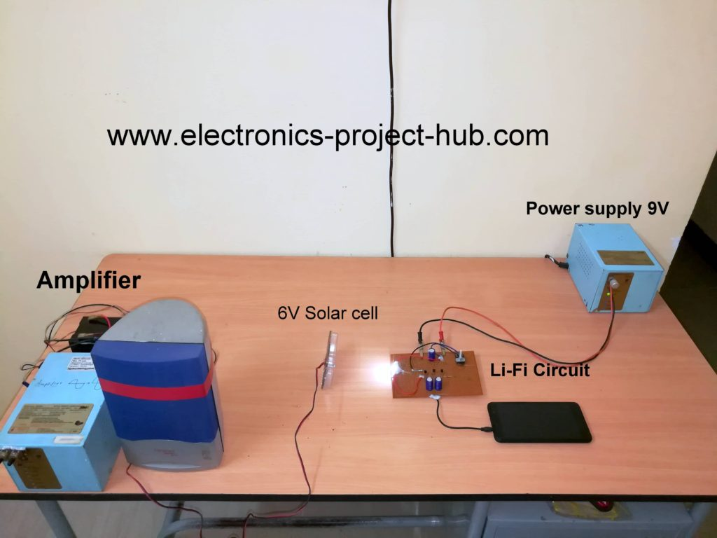 Simple Li Fi Circuit Using Transistor Diy Electronics Projects Diagram Demonstration