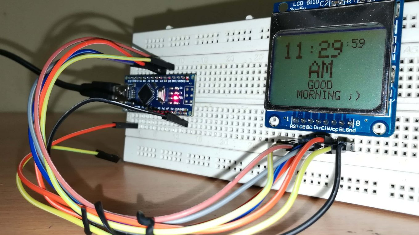 Digital clock without RTC