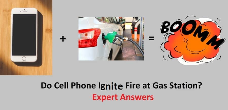 Does cell phone ignite fire