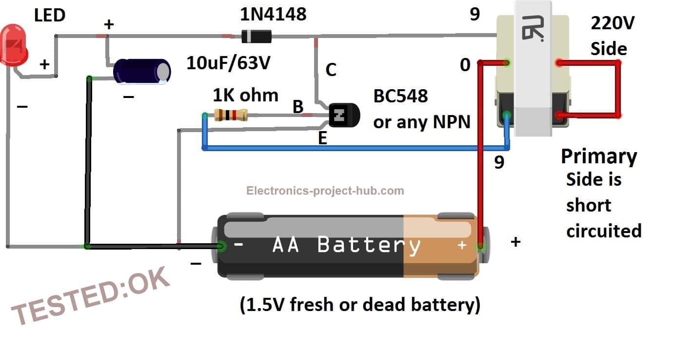 Joule Thief Circuit Diagram  U2013 Diy Electronics Projects