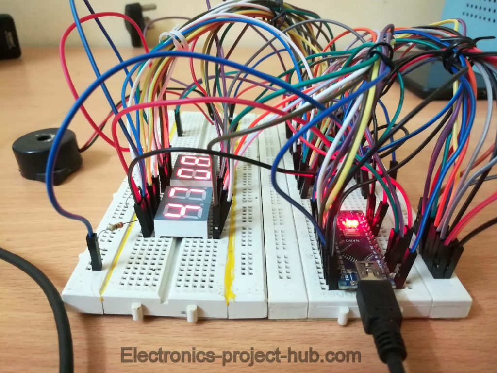 Countdown Timer Circuit Working Prototype