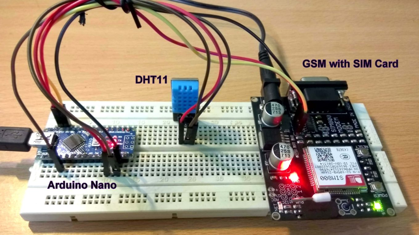 Send Data to Thingspeak Using GSM – DIY Electronics Projects