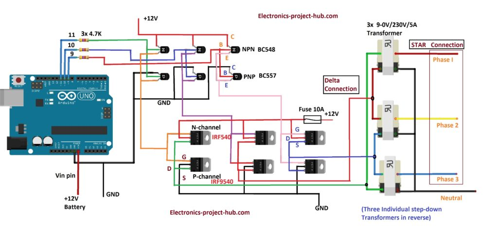 Three phase inverter circuit
