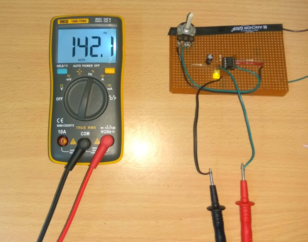 Frequency measurement on multimeter
