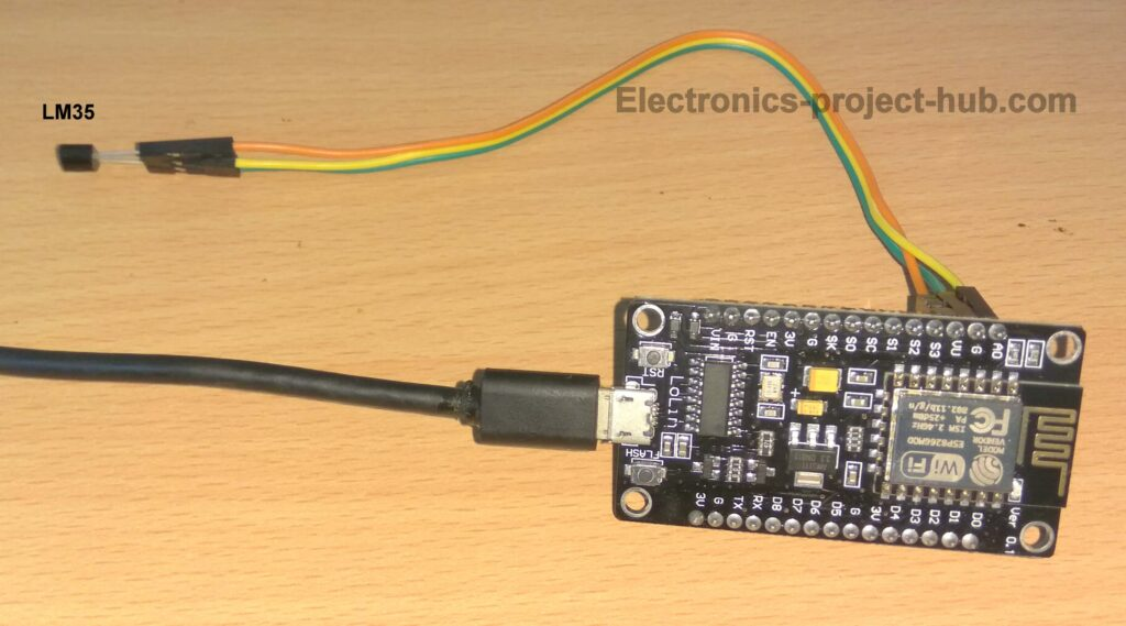 LM35 with NodeMCU