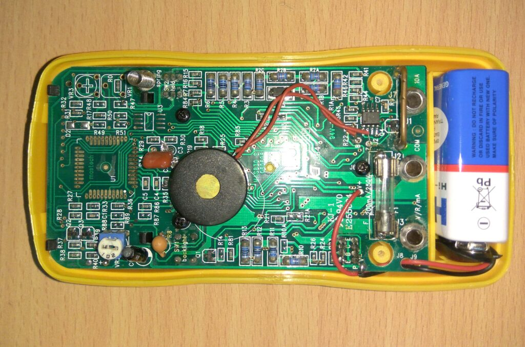 Battery replacement on multimeter