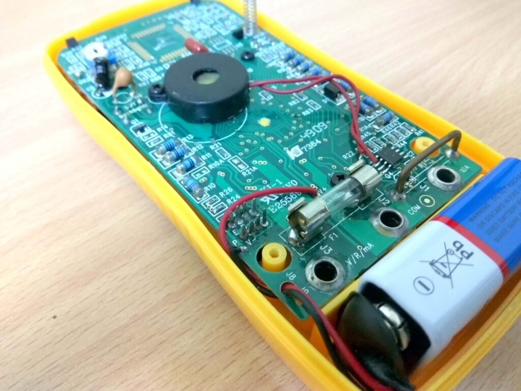 Fuse replacement on multimeter