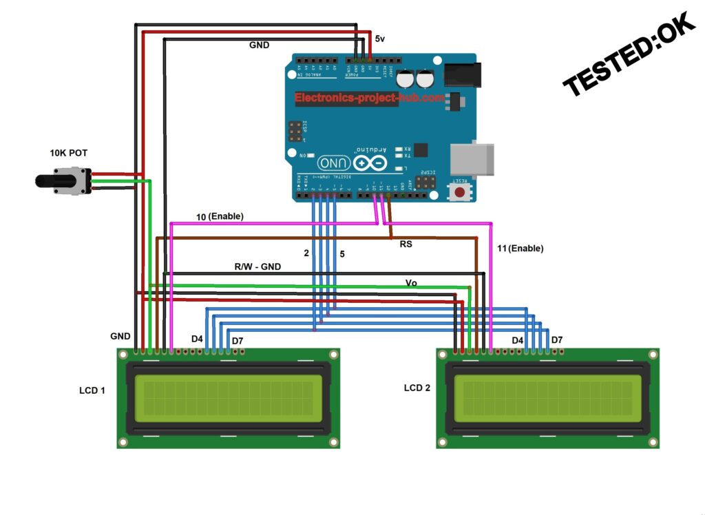How to connect multiple LCD to Arduino