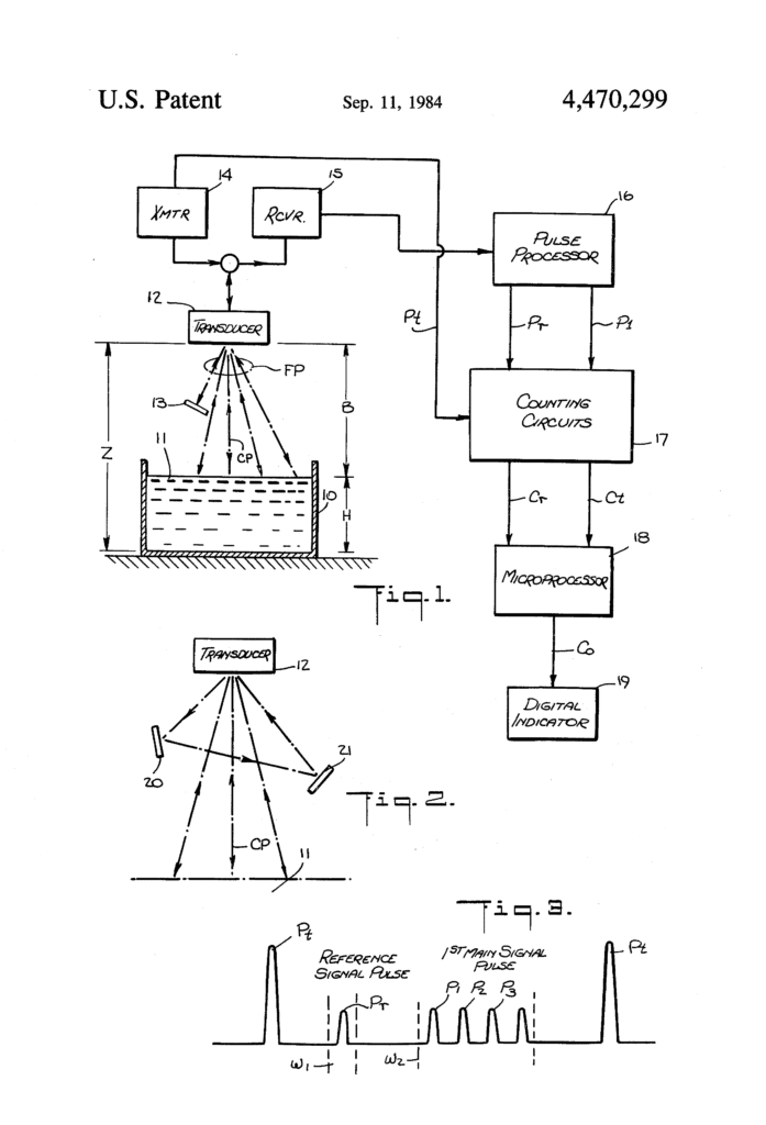 Patent for liquid level indicator
