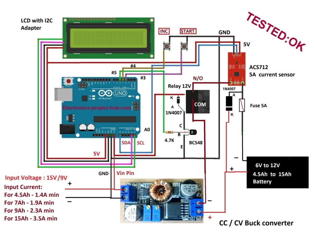 Arduino Lead-Acid Battery Charger Circuit