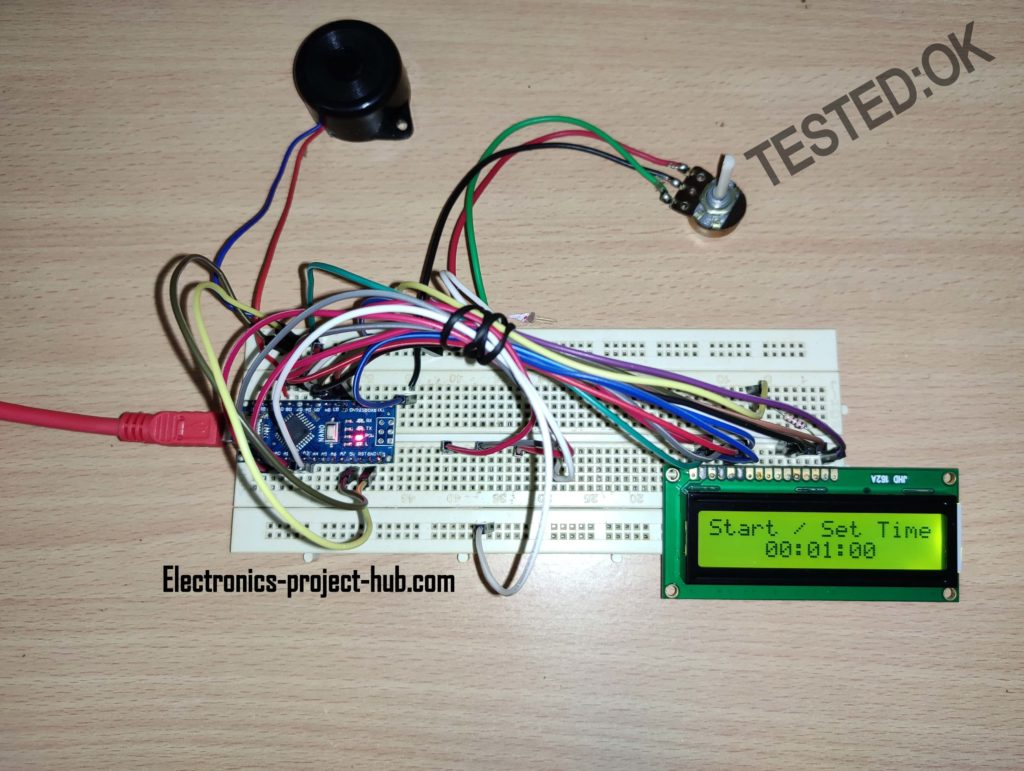 Arduino Countdown Timer with LCD and Buzzer