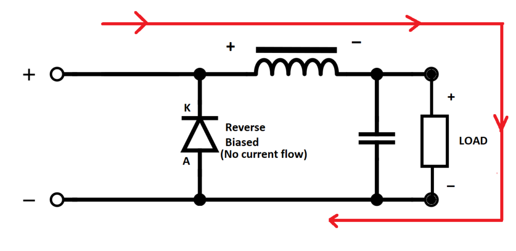 Buck converter while transistor is ON